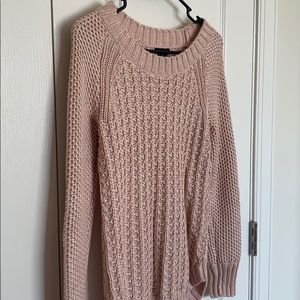 Rose Gold Knit Sweater by Calvin Klein